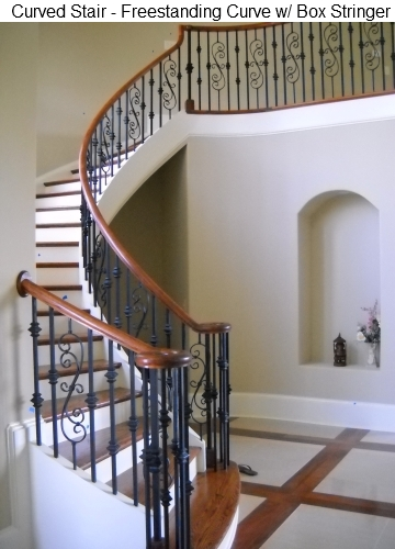 Piedmont stairworks baluster design gallery - Stairlift for curved staircase ...