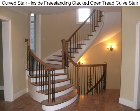 Supported Curved Stair Freestanding Curve Stair ...