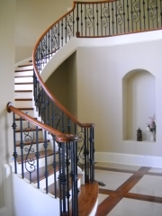 curve stair with curbing