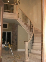 full oak curved stair
